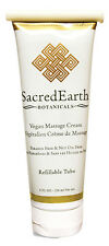 Sacred Earth Botanicals Vegan Massage Cream - Paraben Free - 8oz Refillable Tube