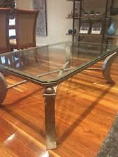 Stunning Large Glass & Metal Coffee Table - Adriatic Furniture - Spectacular!