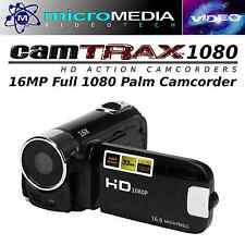CamTRAX 1080 HD Palm Camcorder 16MP+ 32GB SD Card Bundlle- 16X Zoom Antishake