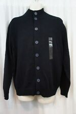Tricots St Raphael Mens Sweater Sz L Navy Blue Cotton Casual Cardigan Sweater