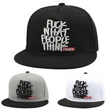 Fashion Men NEW Snapback Baseball Cap Bboy Brim Unisex Adjustable T Hip-Hop Hat
