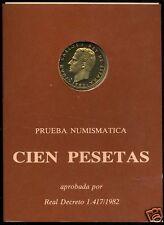 manueduc  ESPAÑA   CARTERA OFICIAL FNMT 100 pesetas 1982  NUEVA