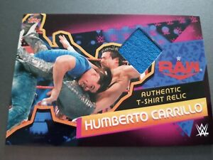 WWE Slam Attax Reloaded Humberto Carrillo Authentic T-Shirt Relic
