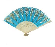 Hand Fan with Wooden Slab