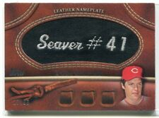2011 Topps Glove Manufactured Leather Nameplates Black TS Tom Seaver Patch 23/99