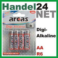 4 x arcas Digi Alkaline LR6, R6, Mignon, AA, 1,5V Batterien