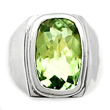 Green Amethyst 925 Sterling Silver Ring Jewelry s.7 GRAR1043