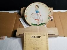 Vintage Hamilton Collection Heidi Collector Plate/ Goat'S.