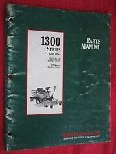 "1991 DEUTZ ALLIS MODEL FC1300G, 42"" CUT LAWN TRACTOR & DECK PARTS MANUAL"