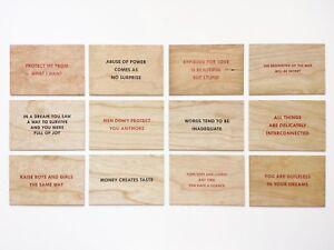 Jenny Holzer Truisms Series Wood Postcard Multiple Full Set 12 Art Edition 2018
