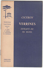 VERRINES CICERON Extraits du DE SIGNIS TEXTES LATINS Cart Grimal Lamaison ...