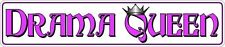 """DRAMA QUEEN METAL STREET SIGN 24"""" X 5"""" CROWN PINK GIRL CONFESSIONS OF A TEENAGE"""