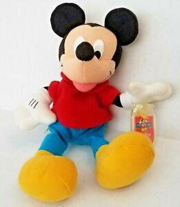 "NWT MATTEL DISNEY 10"" Mickey Mouse Star Bean Bag Plush #82680 1999 RARE"