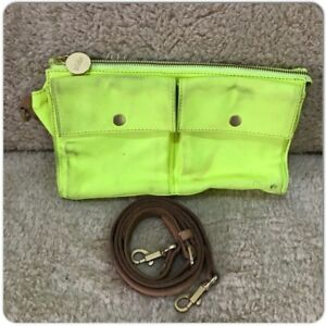 Kate Spade Saturday Yellow Canvas Freeform crossbody bag Brown Leather SOLD OUT