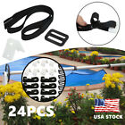 Pool Cover Roller Attachment Solar Blanket Straps Kit  In-Ground Swimming Pool