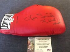LEON SPINKS 76 Gold Medal Insc Signed Autograph Everlast Leather Boxing Glove