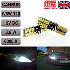 T10 W5W 501 LED BULBS CAR CANBUS 24SMD XENON WHITE SIDE LIGHT BULB BRIGHT ERROR