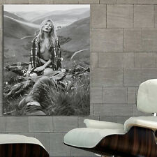 Poster Wall Mural Kate Moss Erotic Model 24x30 inch (61x78 cm on Canvas
