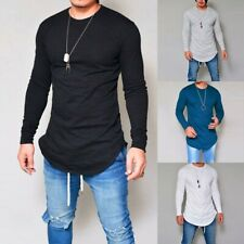New listing Mens T-Shirt Long Sleeve Slim Fit Gym Sports Tee Shirts Tops Blouse Clothing