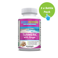 Turmeric Curcumin, Ginger & Bioperine Anti-Inflammatory Supplement - 60 Caps x 3