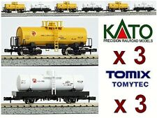 KATO by TOMIX TRENO MERCI N.6 CARRI CISTERNA GAS e BENZINA 6 FREIGHT CAR SCALA-N