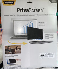 """Lot 2 FELLOWES 19.0"""" PRIVASCREEN  Monitor BLACKOUT PRIVACY FILTER 19.0"""" CRC48005"""