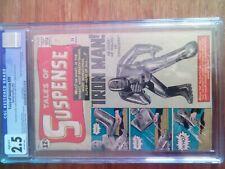 Tales of Suspense 39 CGC 2.5 Restored B-1 1963 Origin & 1st Iron Man Tony Stark