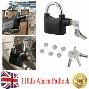 Anti Theft Alarm Lock Padlock Loud Siren Motorbike Motion Sensor Security