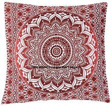 "Indian Boho Ombre Mandala Cushion Covers Cotton Pillow Case Decortaive Throw 16"""