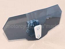 Adjustable Clip On Windshield Extension Spoiler Wind Deflector Motorcycle Smoke