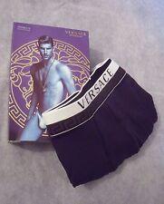 Versace Mens Blue Designer Boxer Underwear - Size 4 (GB 34) / Gift for him