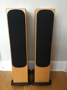 Monitor Audio Silver RS6 Loudspeakers Light Oak Great condition Boxed.