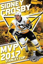 SIDNEY CROSBY Pittsburgh Penguins 2017 STANLEY CUP MVP Commemorative POSTER
