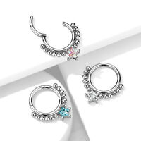"""1pc CNC Set Lined CZ Gems Industrial Barbell 38mm 1.5/"""" 1/&1//2/"""""""