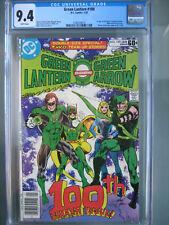 Green Lantern #100 Newsstand CGC 9.4 WP 1978 1st app Air Wave II (Harold Jordan)