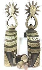 HL Boot Spurs Western Riding Dressage Heart Shanks Engraved Single Mount 2100NXN