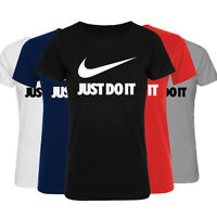 Just Do It Womens Printed T Shirts Casual Summer Short Sleeve Crew Neck Top Tee