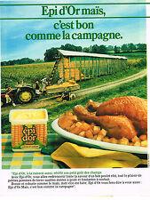 PUBLICITE ADVERTISING  1989   EPI D'OR  MAIS    magarine