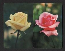 Vintage Swap/Playing Cards - Gorgeous Roses Pair