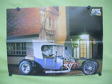 belgian 1980's double sided poster.Ford T bucket Rod & Mercedes Exalibur kit