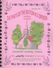 """ACCORDIONS ,""""COUNTRY GOSPEL TUNES"""" EASY PLAY BY NUMBERS"""