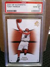 2007 SP Authentic # 93 Tony Parker PSA Gem Mint 10 ****.......      22664001