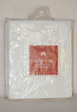 Amy Coe Limited Edition White Cotton Three Acre Farm Crib Sheet 200 Thread Nip