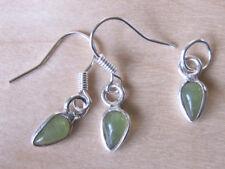 set hanger/oorbellen met GROENE KWARTS (1) edelstenen