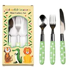 dotcomgiftshop COLOURFUL CREATURES CHILDREN'S CUTLERY SET