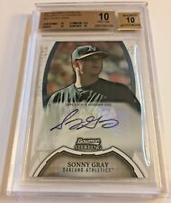 SONNY GRAY 2011 Bowman Sterling Prospect AUTO RC BGS PRISTINE 10 / 10 AUTO