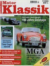Motor Klassik 7/95 1995 BMW 1500 1800 2000 Delahaye 135 MGA MGB Goggomobil