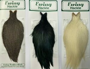 Ewing Genetic Rooster Neck Capes Genetic Dry fly streamer and baitfish hackles