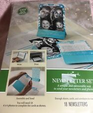 Hallmark Newsletter Set Laser print your own newsletter Xmas Cards 18 Pgx4463