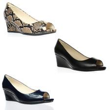 Cole Haan Para Mujer Grand ambición Peep Toe Zapatos De Tacón Cuña
